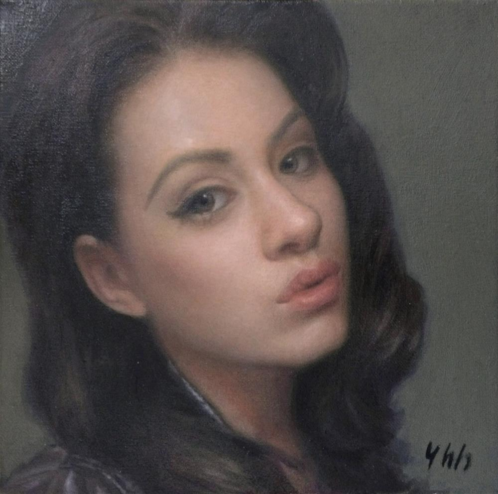 """Commissioned Portrait"" original fine art by Yuehua He"