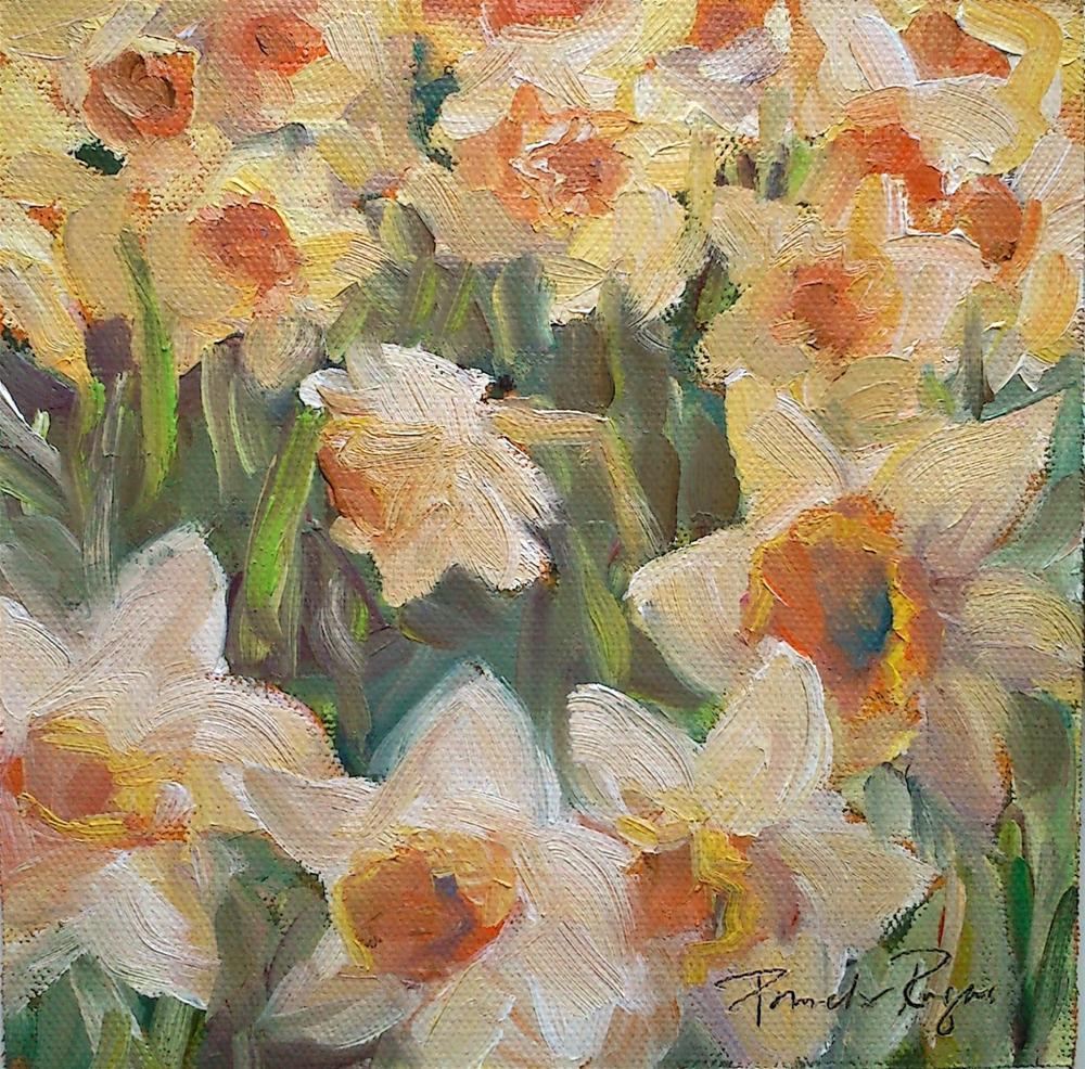 """Dancing Daffodils"" original fine art by Pamela Jane Rogers"