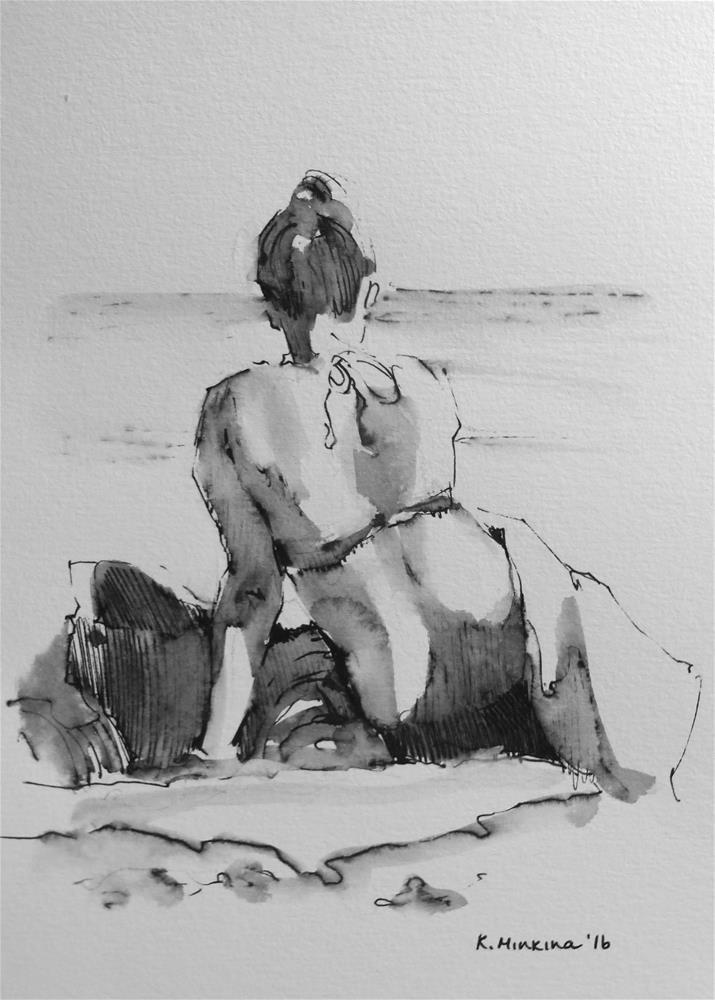 """hanasketching#19"" original fine art by Katya Minkina"