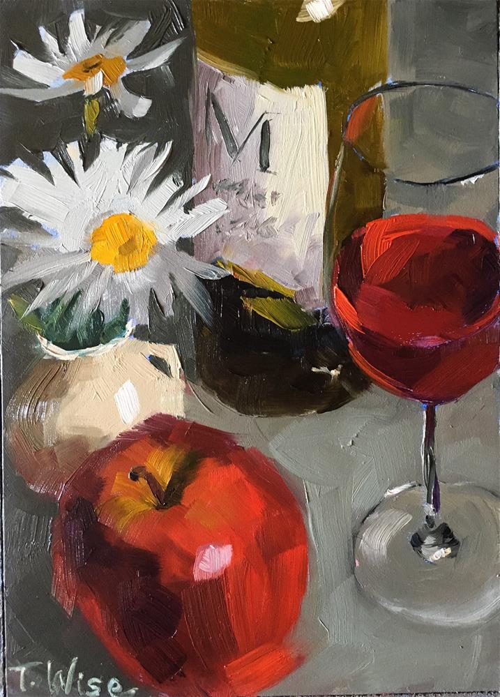 """Delicious Reds"" original fine art by Tracy Wise"