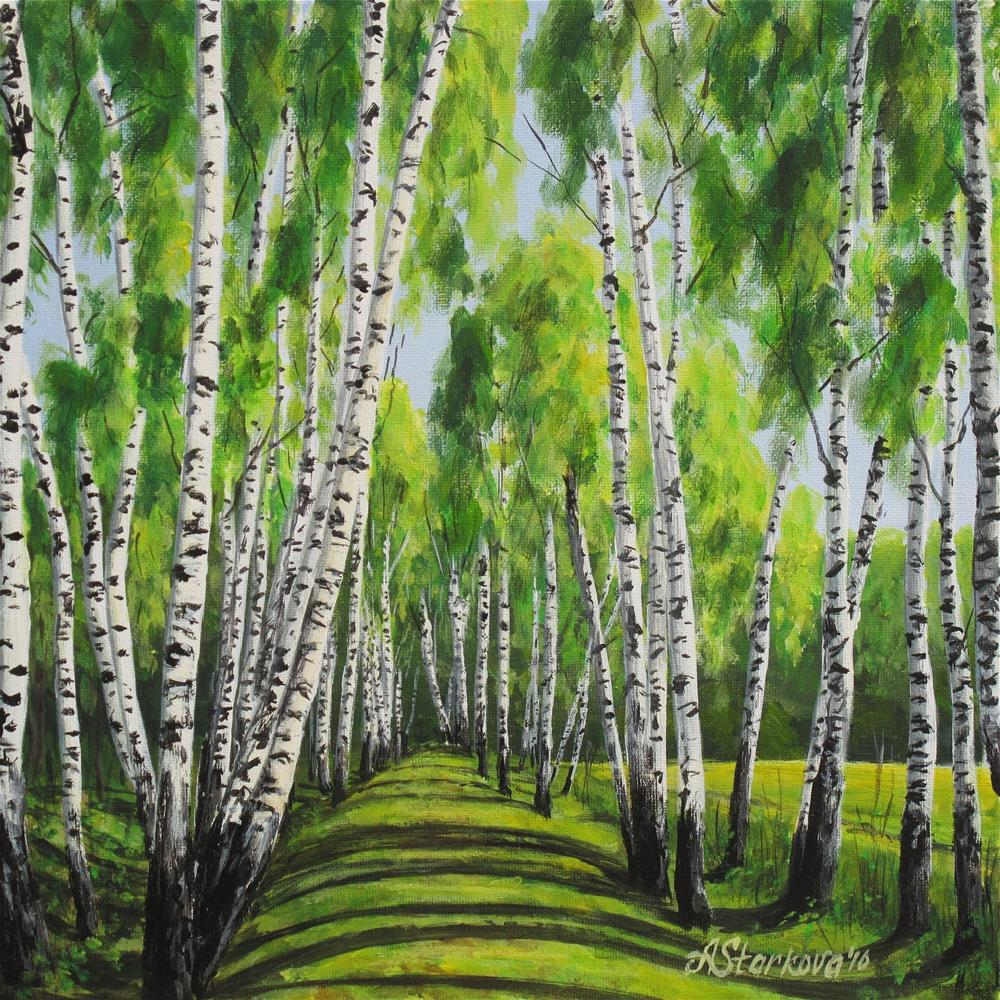 """Into the woods"" original fine art by Anna Starkova"