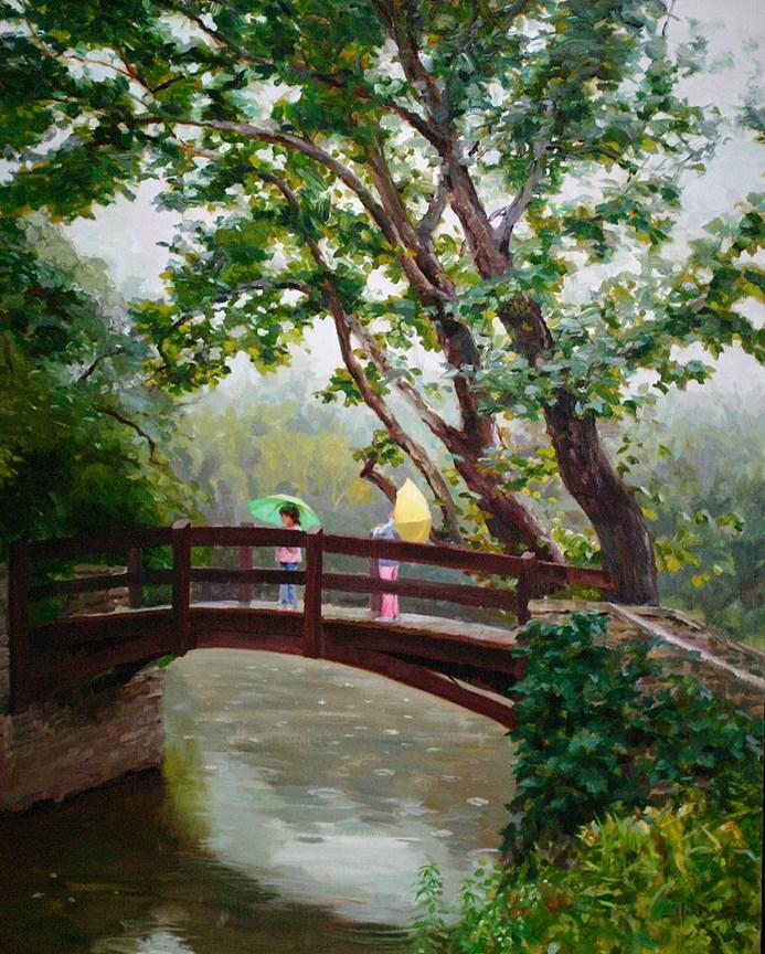 """Bridge at Salt Creek"" original fine art by Scott Harding"