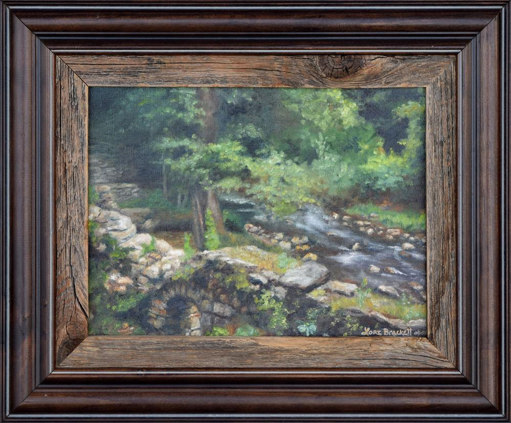 """Old Mill Stream II"" original fine art by Lori Brackett"