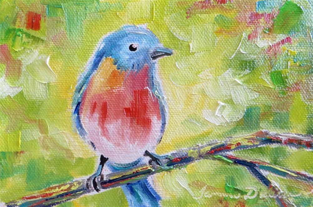 """Bright Bluebird"" original fine art by Tammie Dickerson"