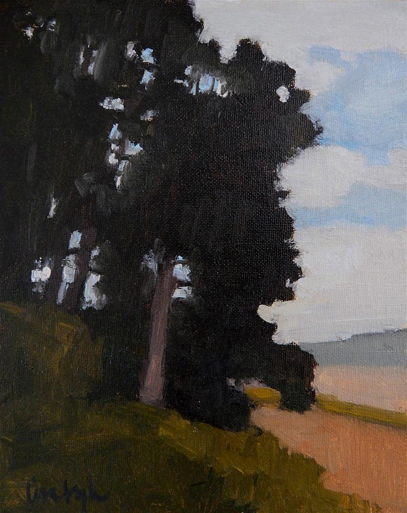 """Dark Trees"" original fine art by Lisa Kyle"