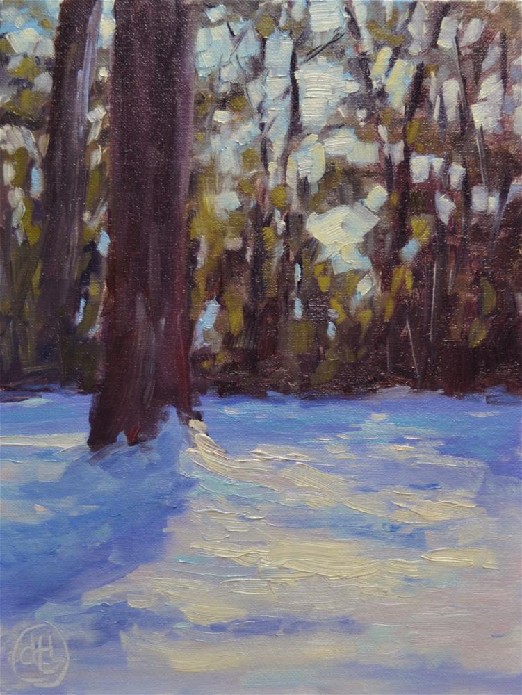 """through the trees"" original fine art by Dottie  T  Leatherwood"