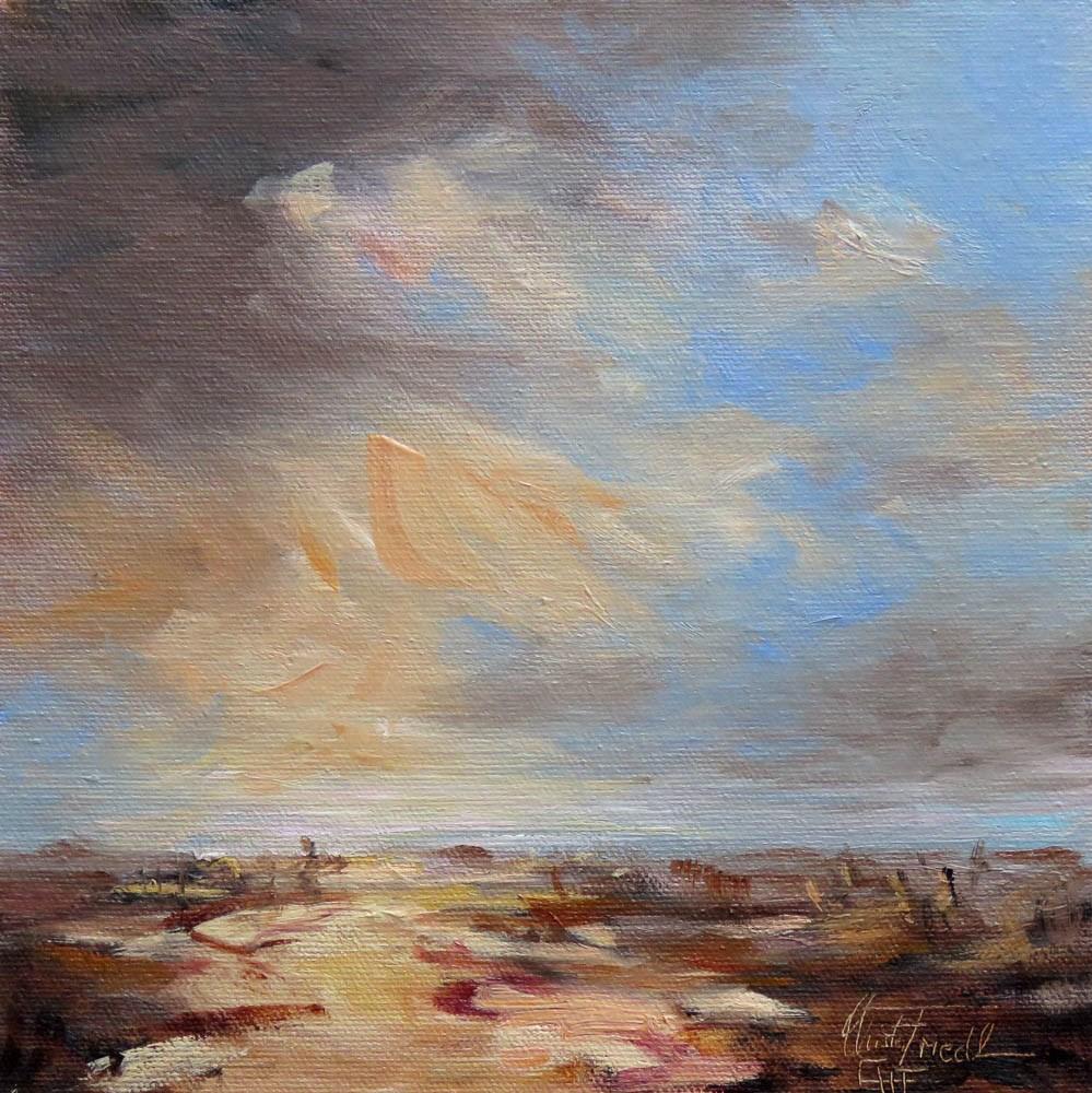"""Cloud Study II"" original fine art by Christa Friedl"