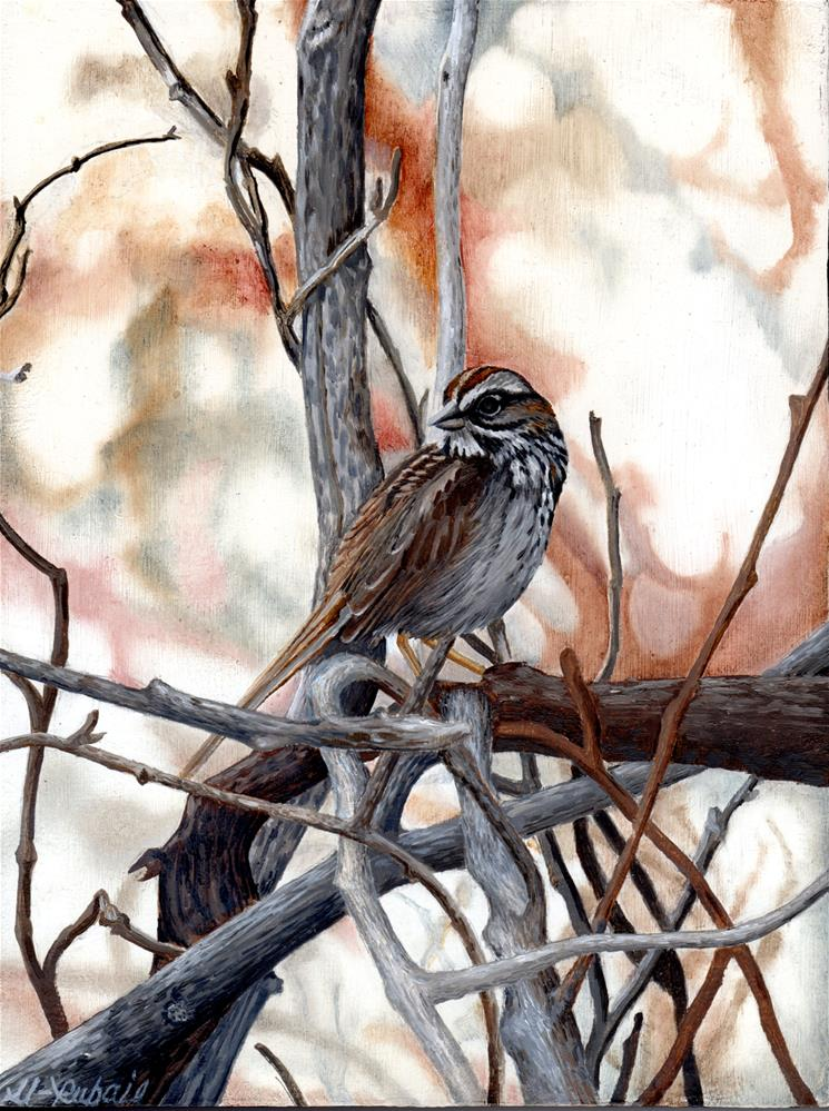 """Song Sparrow"" original fine art by Catherine Al-Rubaie"