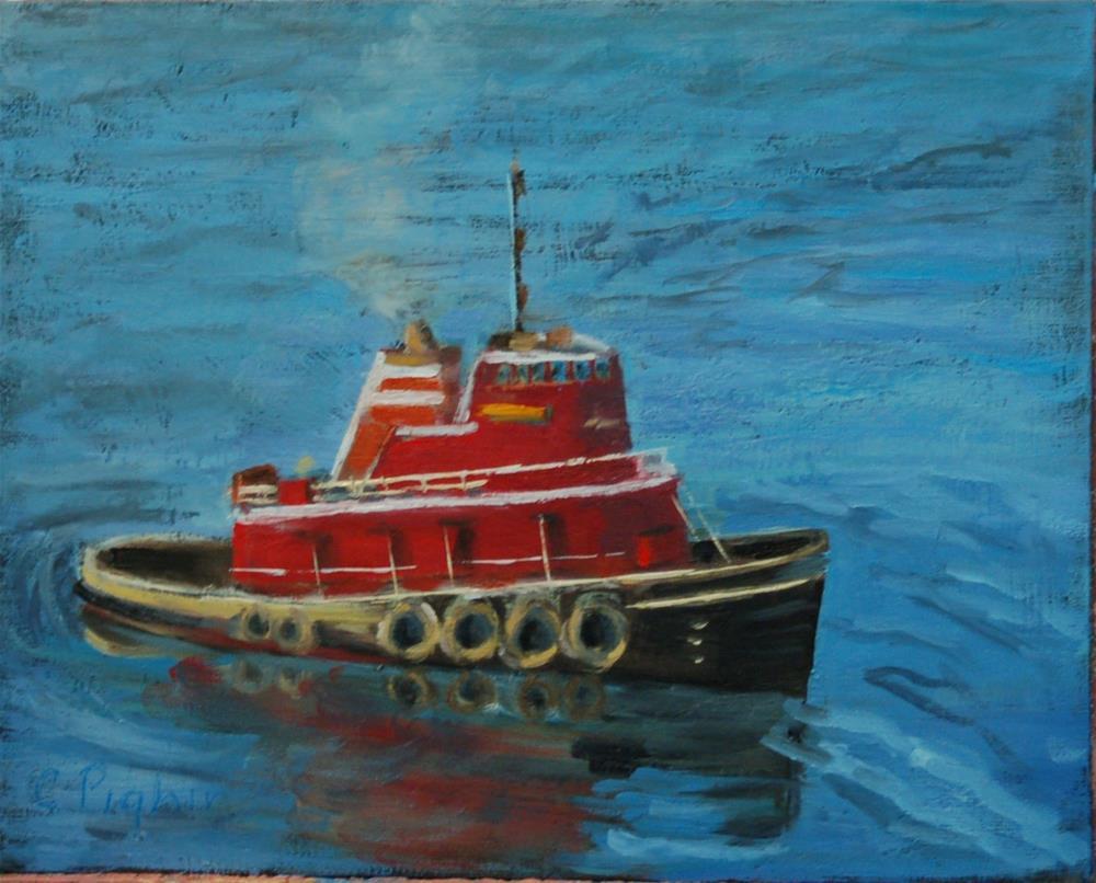 """Tug Boat"" original fine art by Carol Pighin"