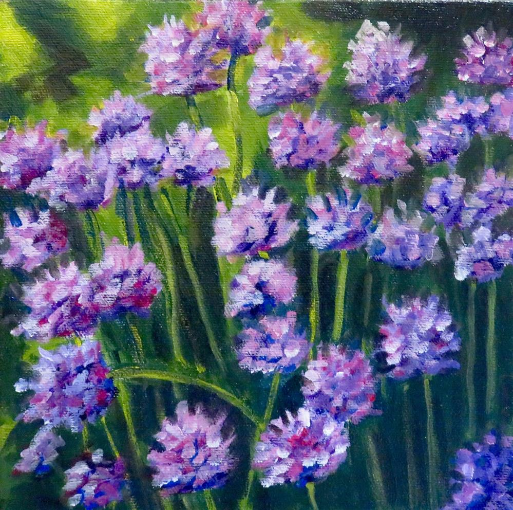 """PURPLE CHIVES"" original fine art by Deborah Czernecky"