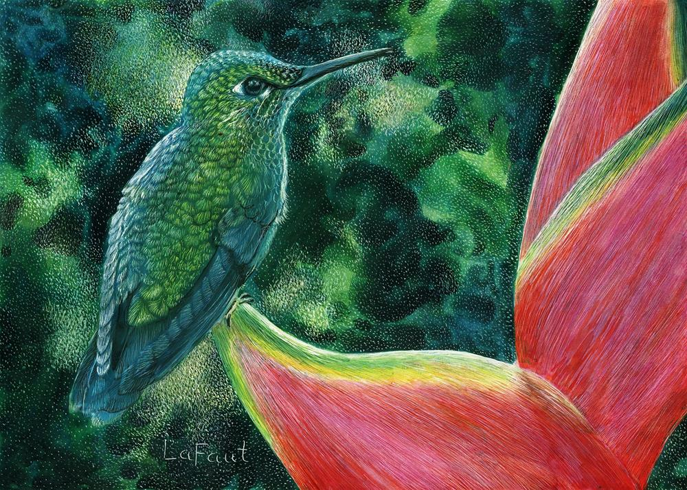 """Jungle Jewel: Amazon Series #7"" original fine art by Sandra LaFaut"