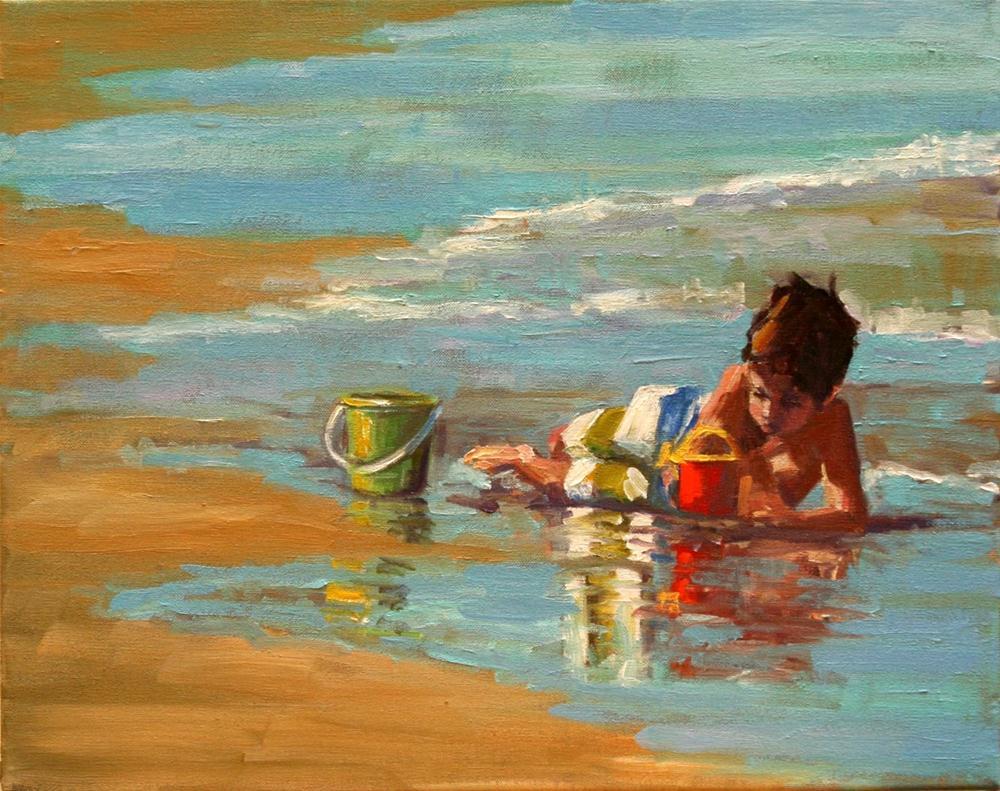 """""""all in"""" original fine art by Carol Carmichael"""