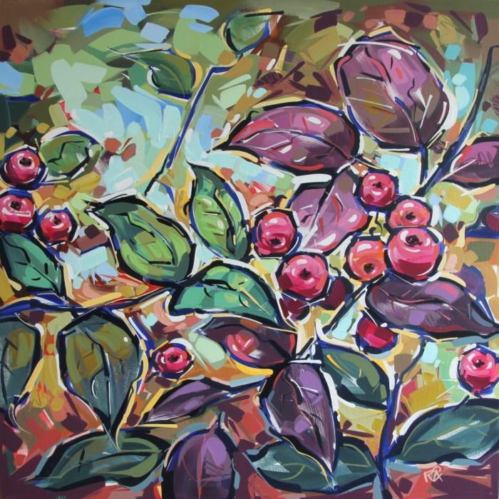"""Rowan Berries 25"" original fine art by Roger Akesson"