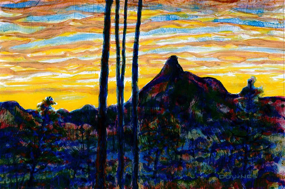 """002 MOUNT WARNING 2"" original fine art by Trevor Downes"