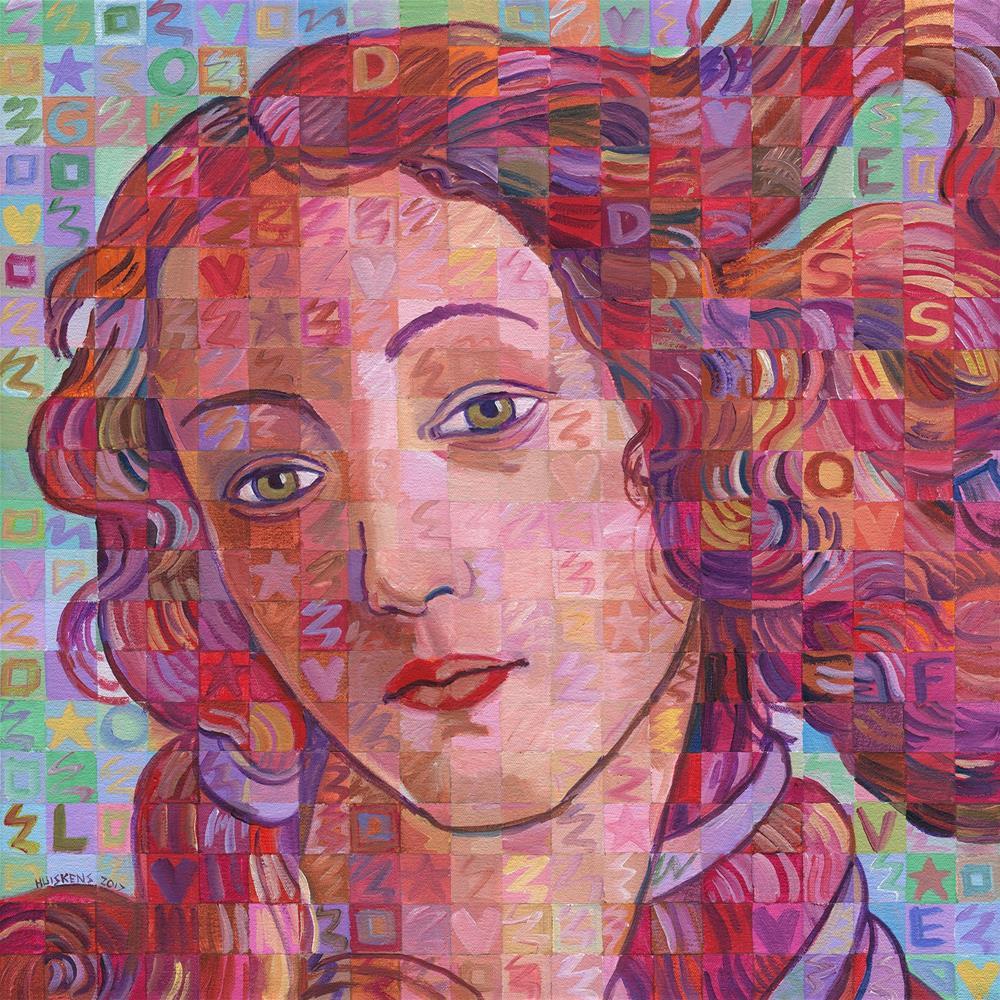 """""""Variations On Botticelli's Venus – No. 7"""" original fine art by Randal Huiskens"""