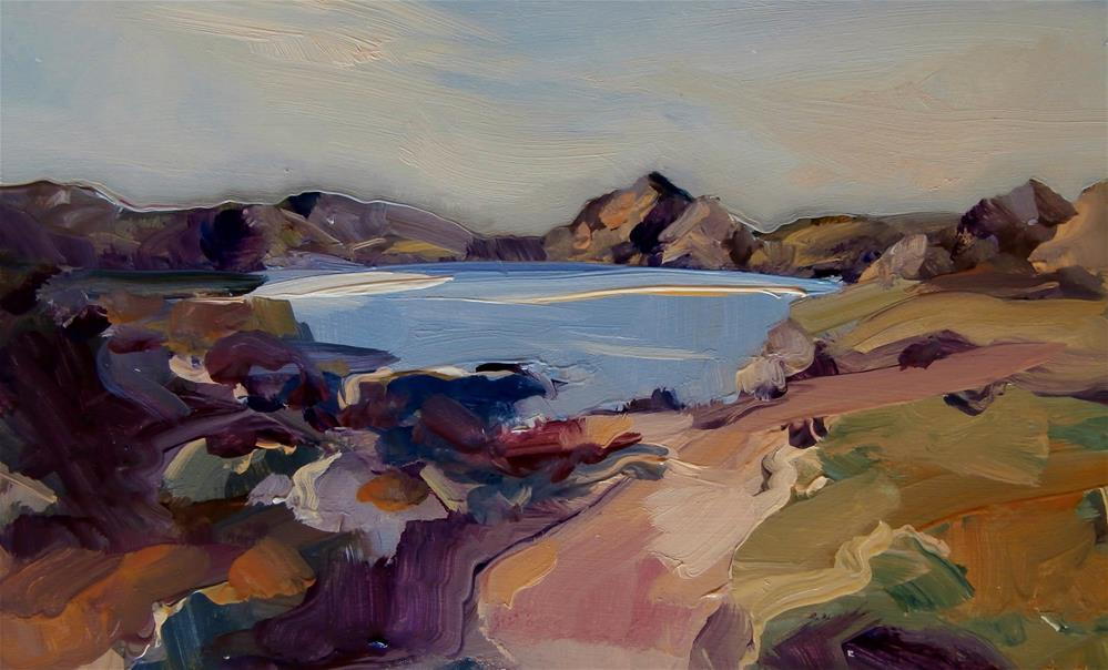 """Pool on the Roaches"" original fine art by Anne Wood"
