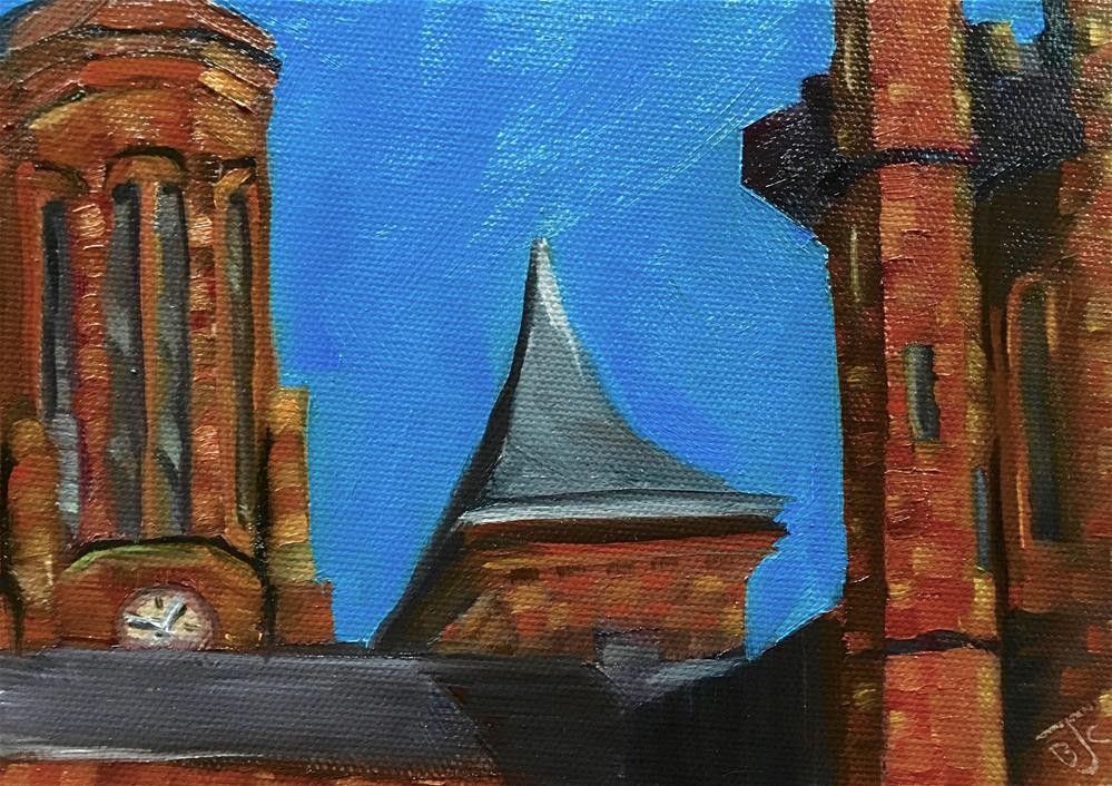"""Smithsonian Castle Building"" original fine art by Bobbie Cook"