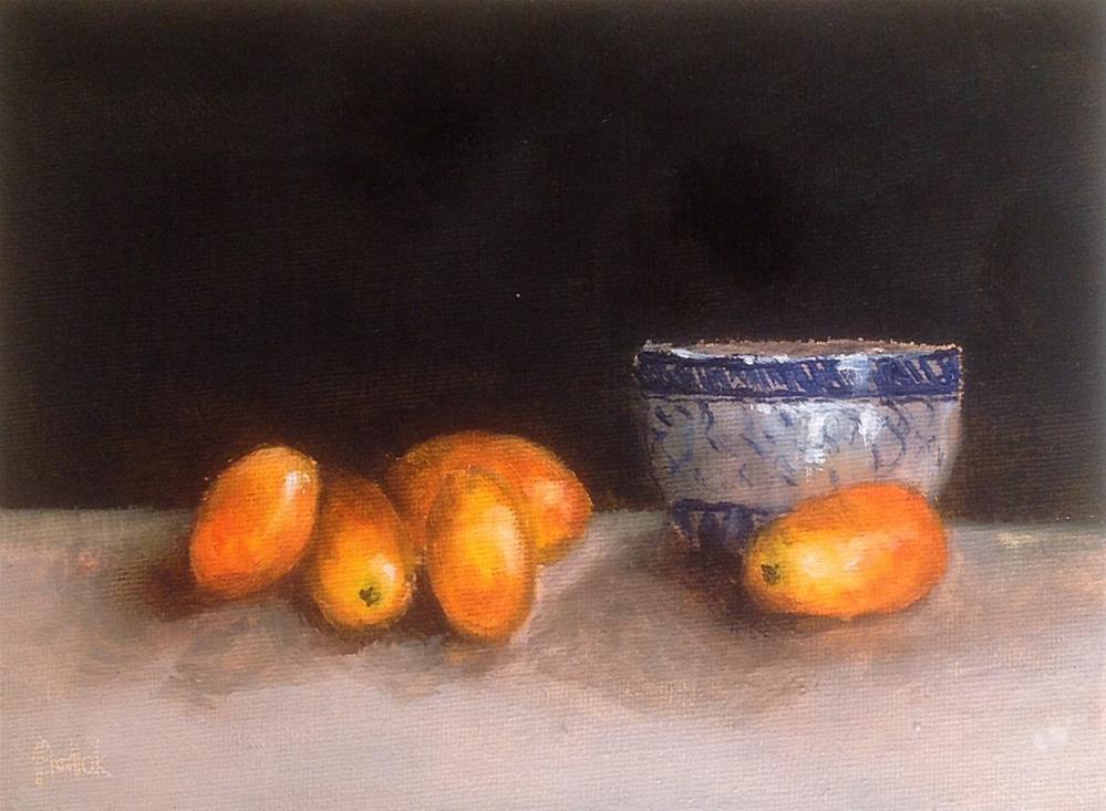 """Kumquat #710"" original fine art by Heidi Shedlock"