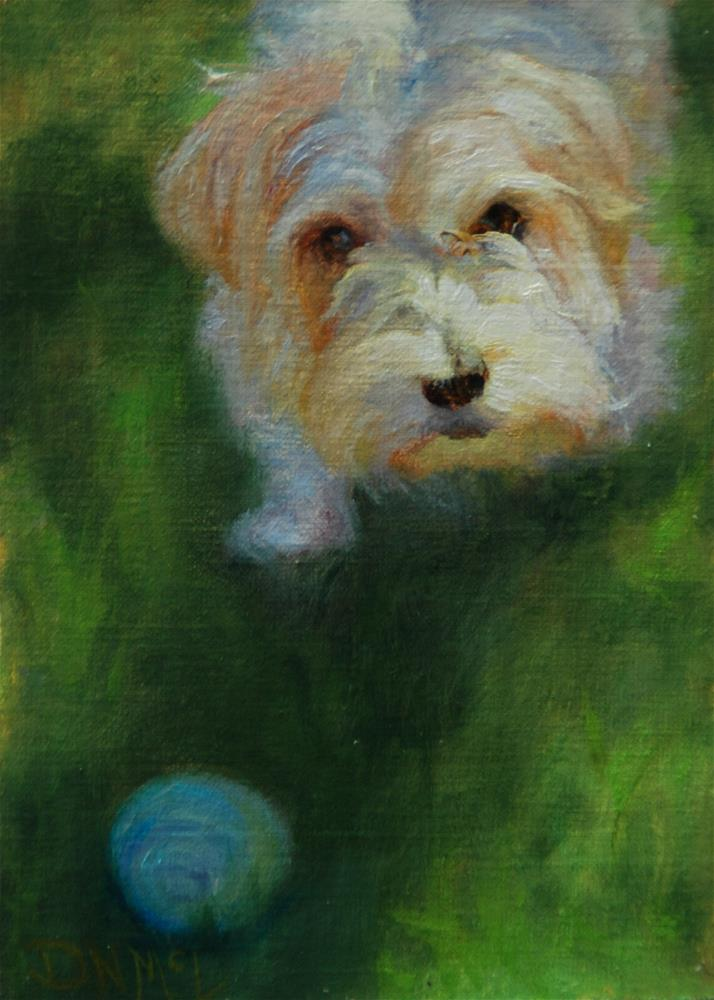 """Throw It !"" original fine art by Dorothy McLennan"