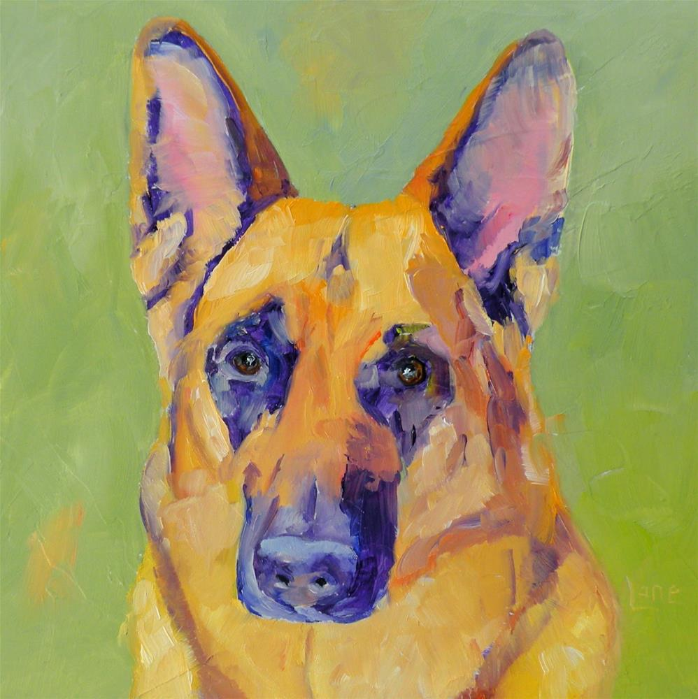 """EMMERICH 70/101 OF 101 PET PORTRAITS IN 101 DAYS © SAUNDRA LANE GALLOWAY"" original fine art by Saundra Lane Galloway"