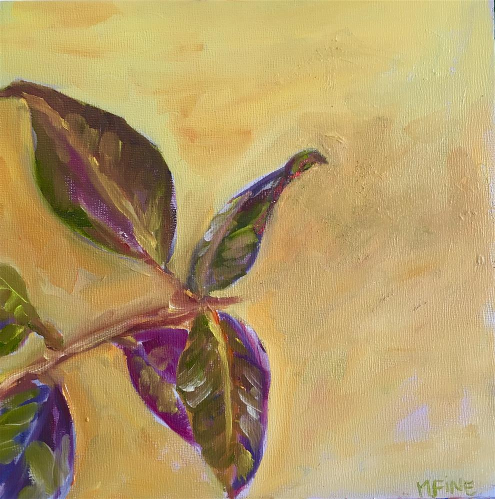 """Ficus Elastica"" original fine art by maura fine"