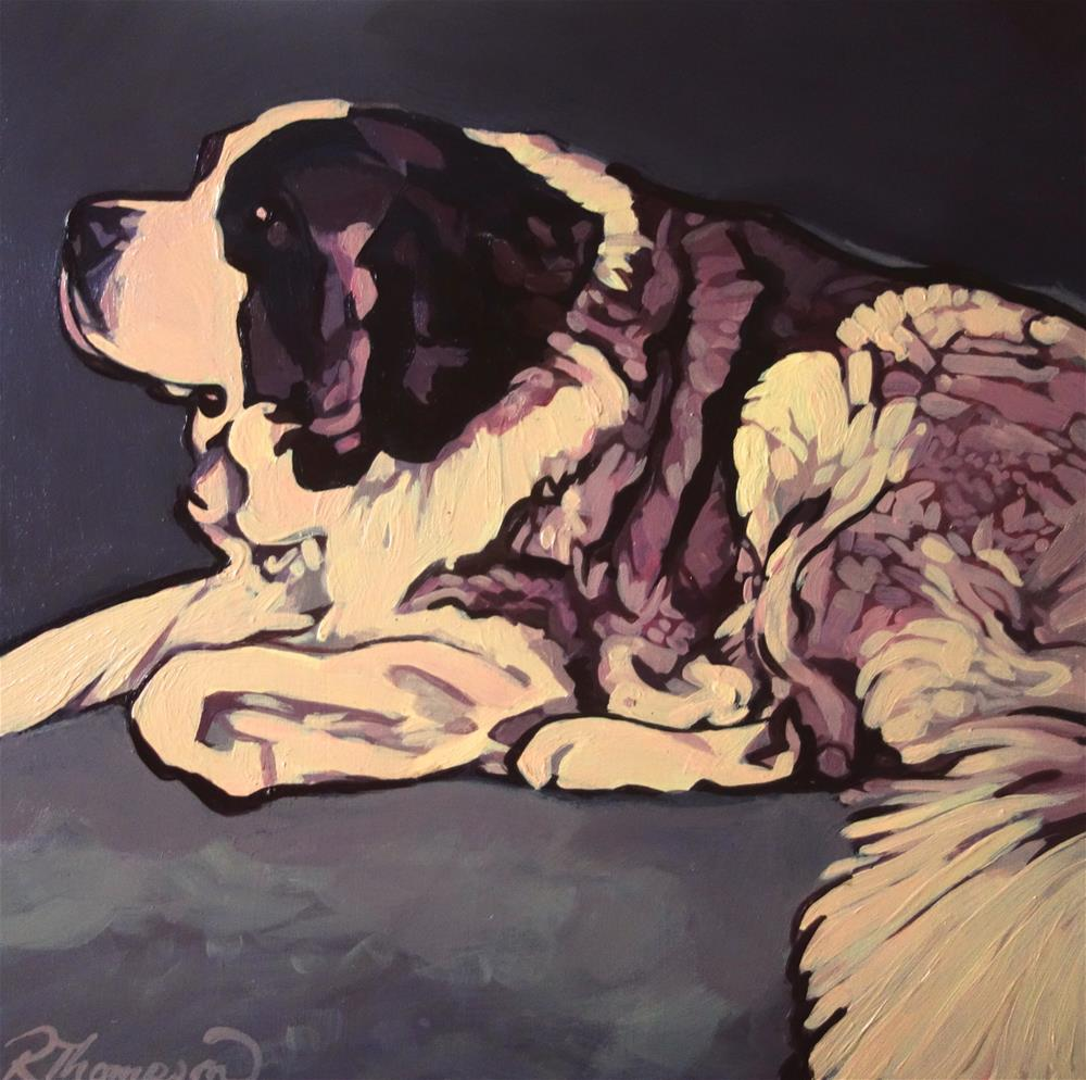 """Hoss"" original fine art by Rachel Thompson"