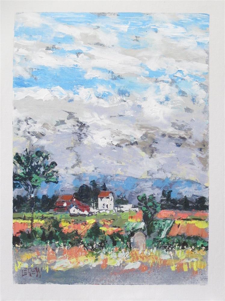 """""""Klingle Farm On The Gettysburg Battlefield by Larry Lerew 130718"""" original fine art by Larry Lerew"""