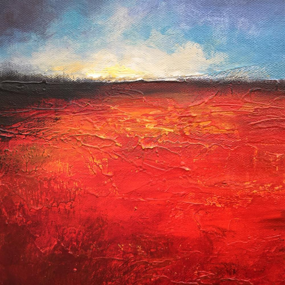 """Red"" original fine art by Jane Palmer"