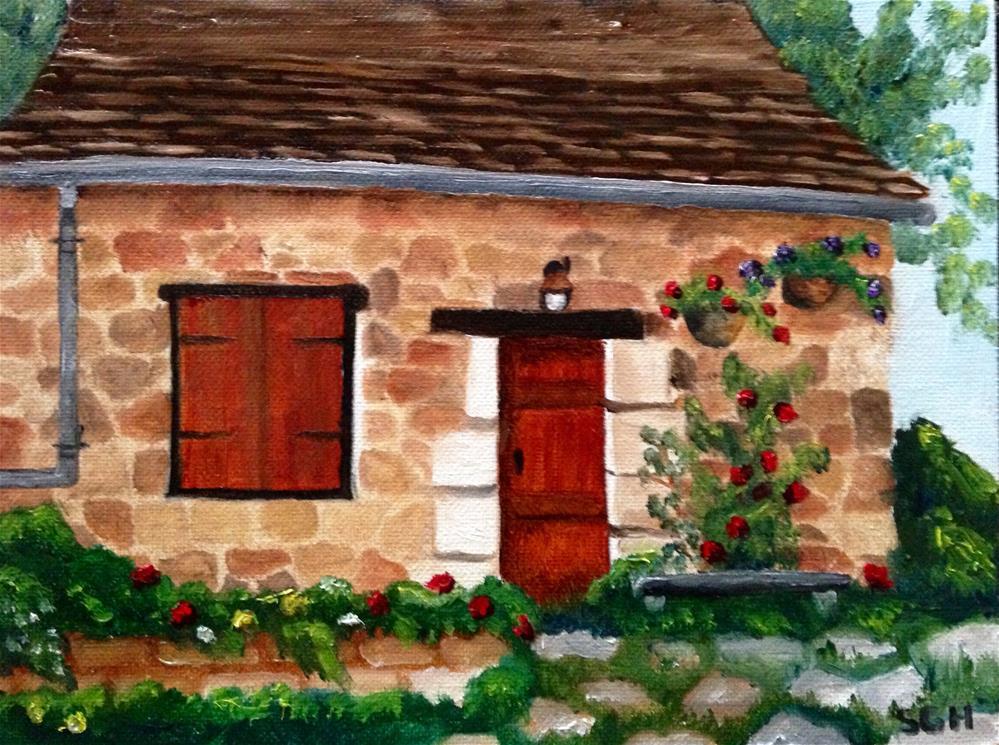 """Country Cottage"" original fine art by Susan Hoffheimer"