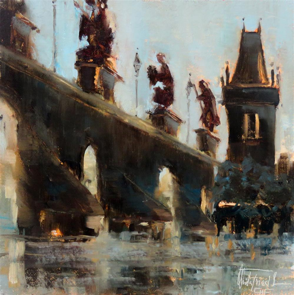 """St. Charles Bridge Prague"" original fine art by Christa Friedl"