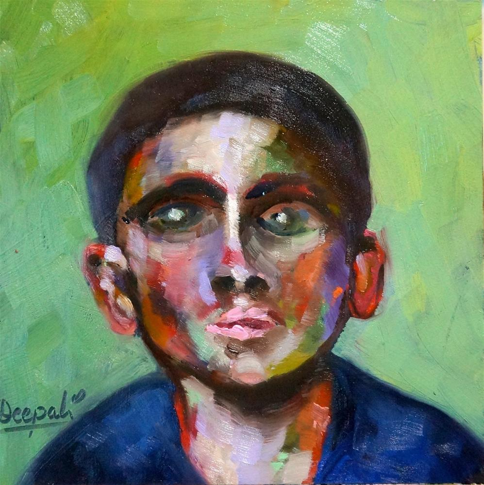 """Face #1"" original fine art by Dipali Rabadiya"