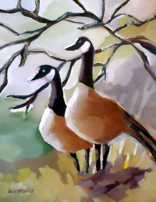 """Goosebumps"" original fine art by Laurie Mueller"