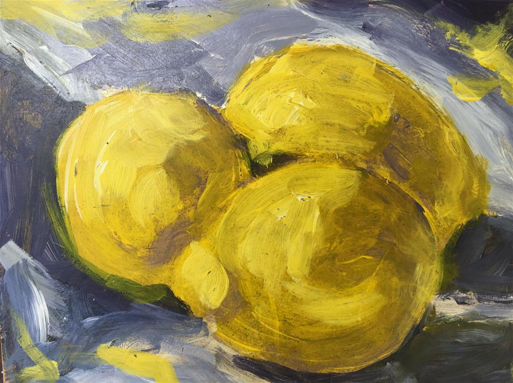 """Lemons, Demo 4"" original fine art by Susan Elizabeth Jones"