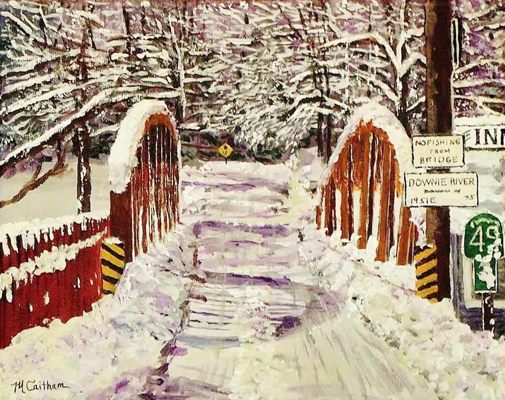"""Downieville Bridge"" original fine art by Mike Caitham"