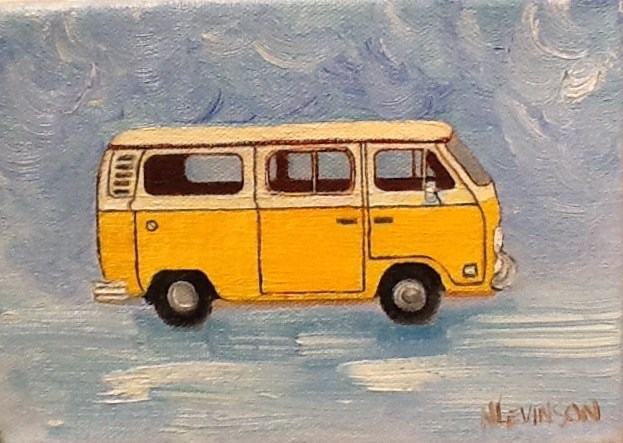 """Classic So Cal"" original fine art by Nancy Levinson"