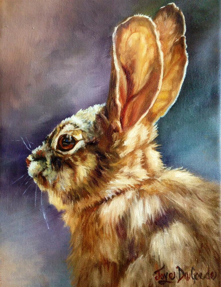 """""""Bunny Face by Joye DeGoede"""" original fine art by Joye DeGoede"""