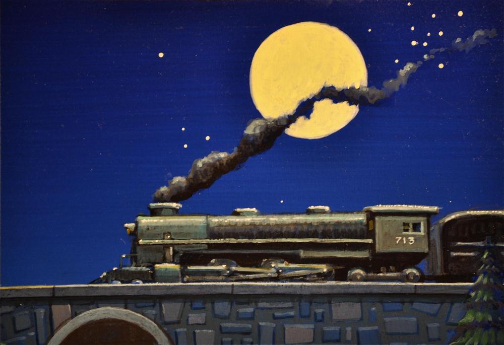 """""""Moonlight Express"""" original fine art by Robert LaDuke"""