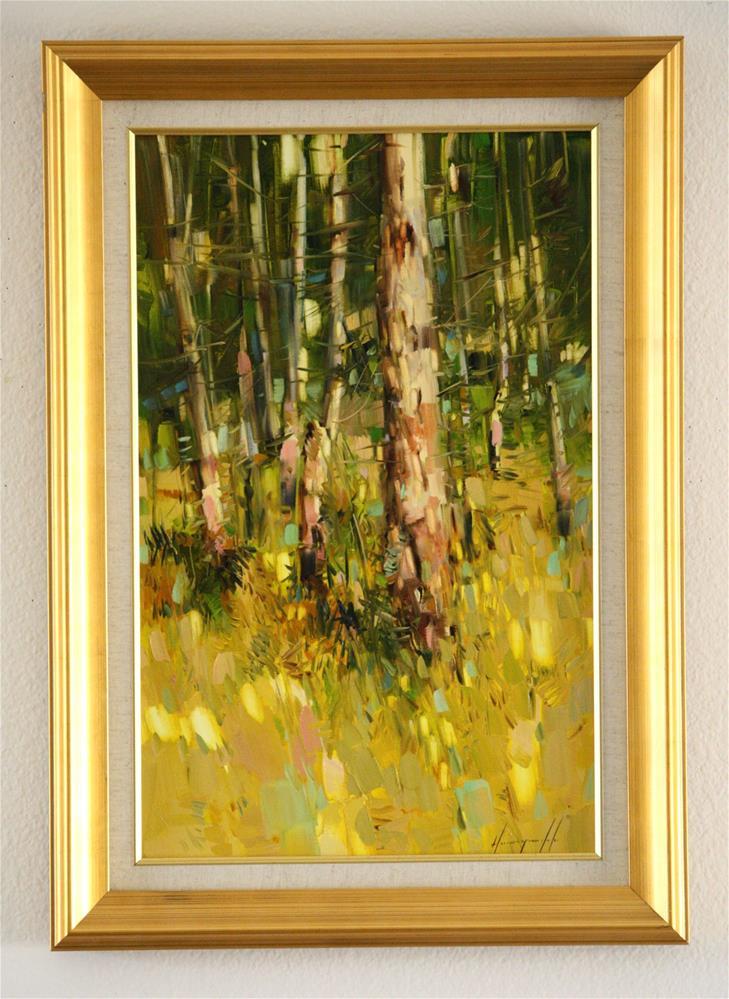"""BIRCHES TREES"" original fine art by V Y"