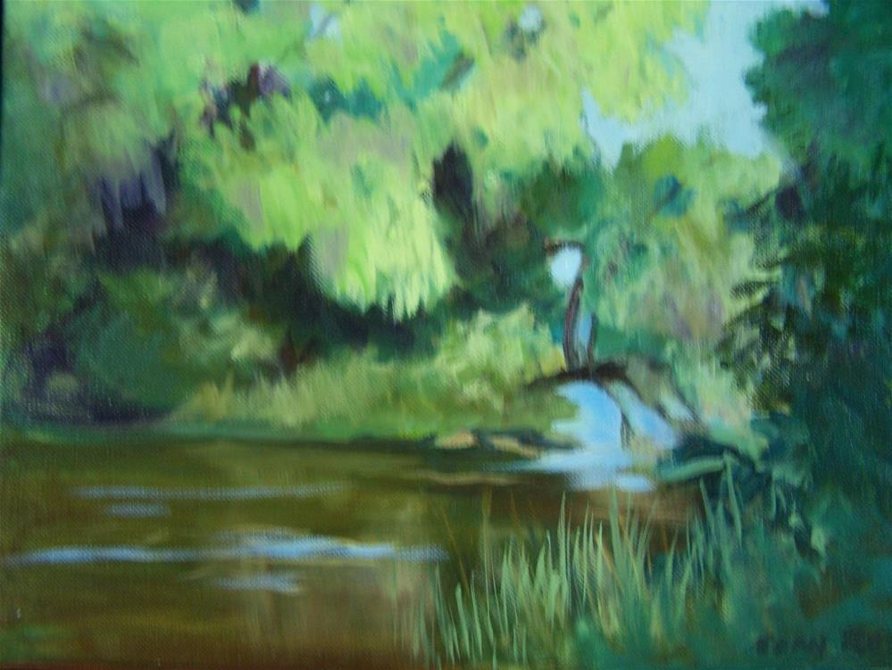 """Willow on Potter's Creek"" original fine art by Joan Reive"