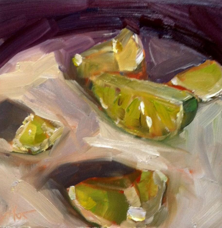 """""""Limey"""" original fine art by Kristen Dukat"""