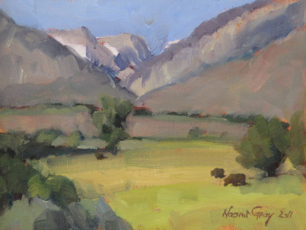 """Pine Creek from Round Valley"" original fine art by Naomi Gray"