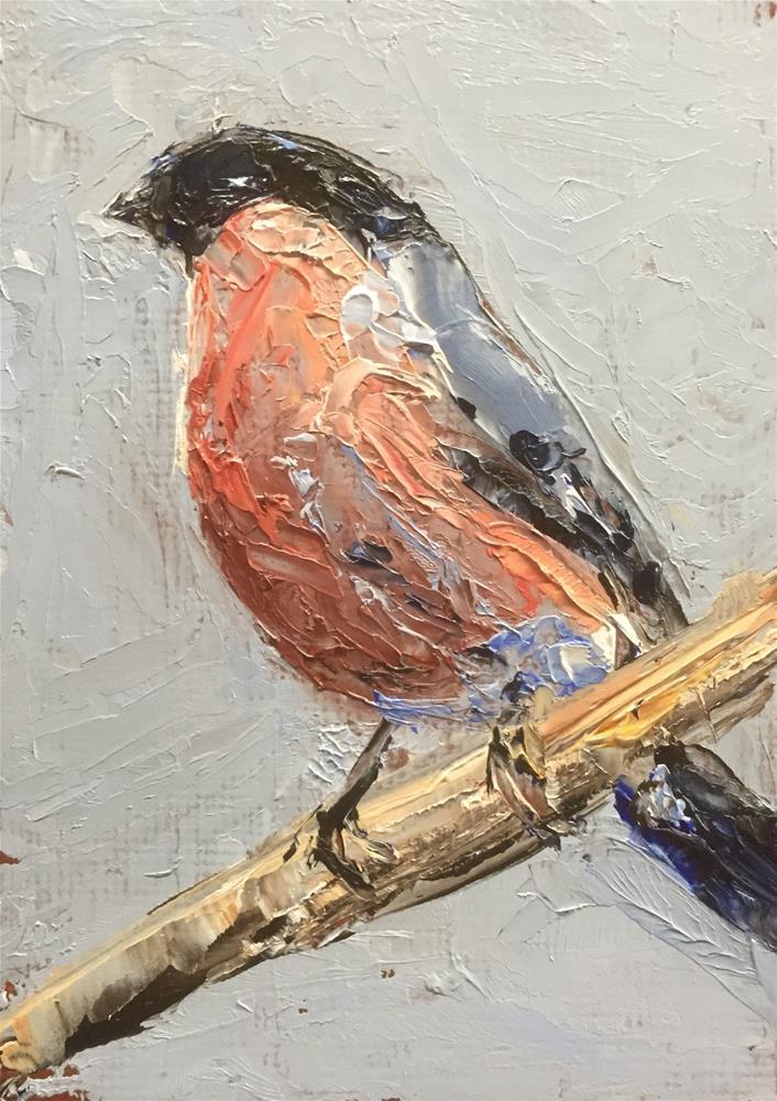 """Bullfinch II"" original fine art by Gary Bruton"