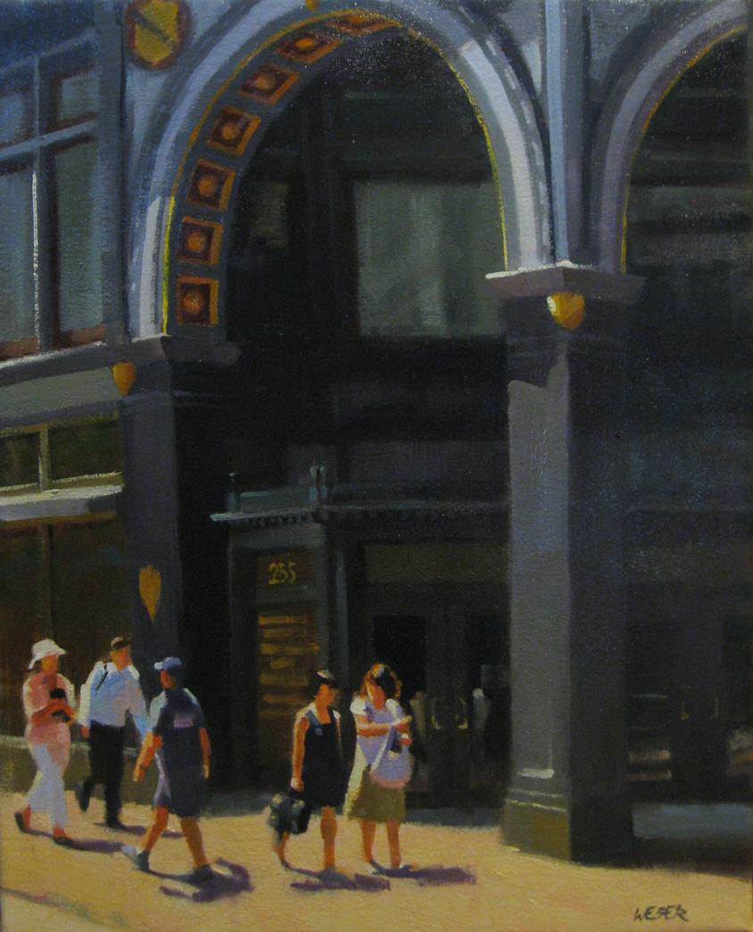 """Under the arch"" original fine art by Kathy Weber"
