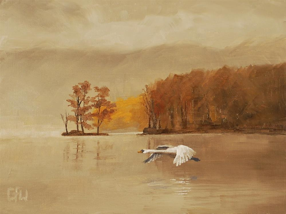 """Flying Swan"" original fine art by Gary Westlake"
