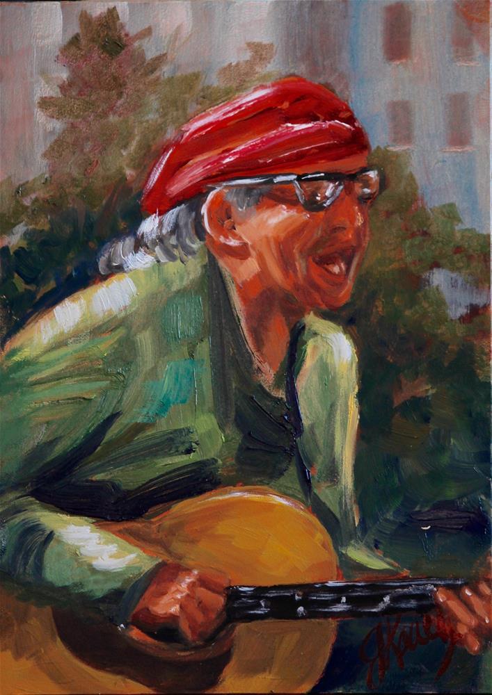 """Feeling the Music"" original fine art by Jennifer Koach"