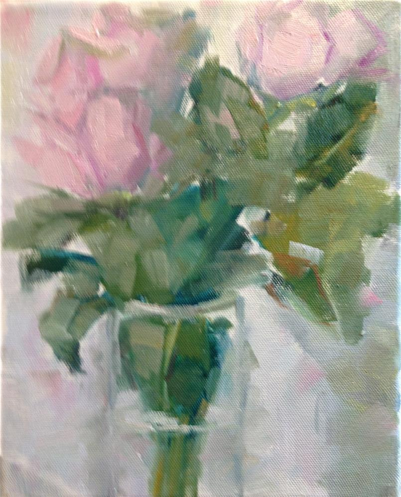 """Pink"" original fine art by Carol Josefiak"