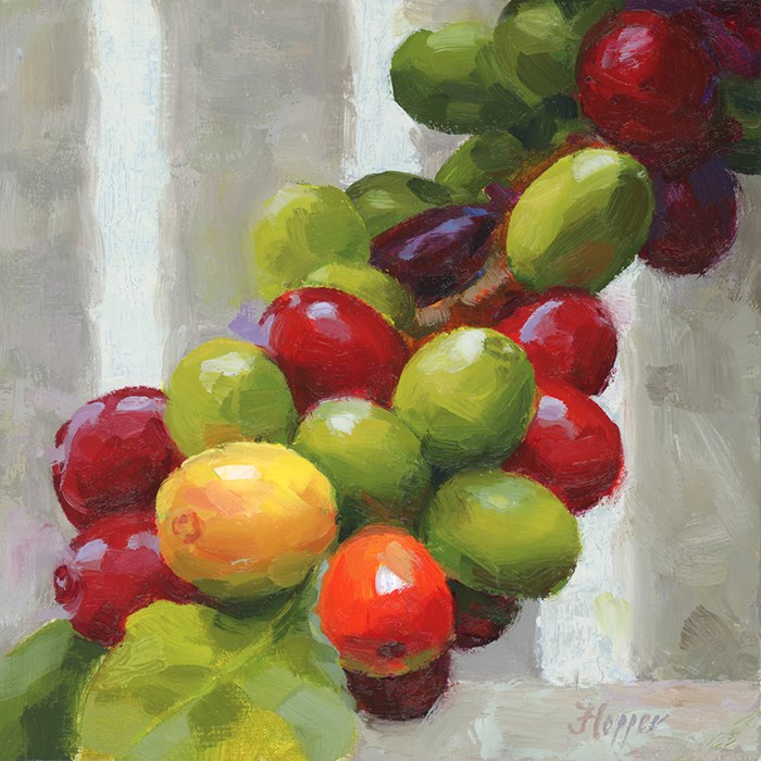 """Upcountry Coffee Beans"" original fine art by Joanne Hopper"