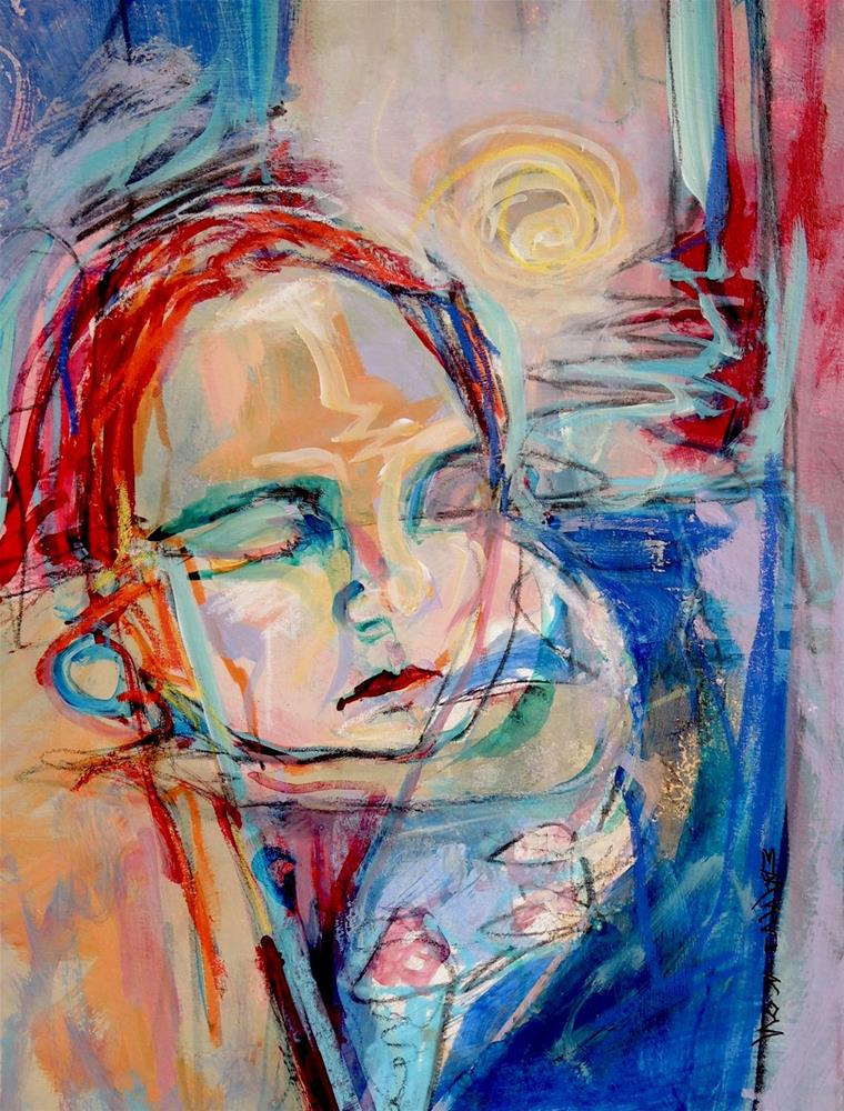 """Ponder"" original fine art by Mary Schiros"