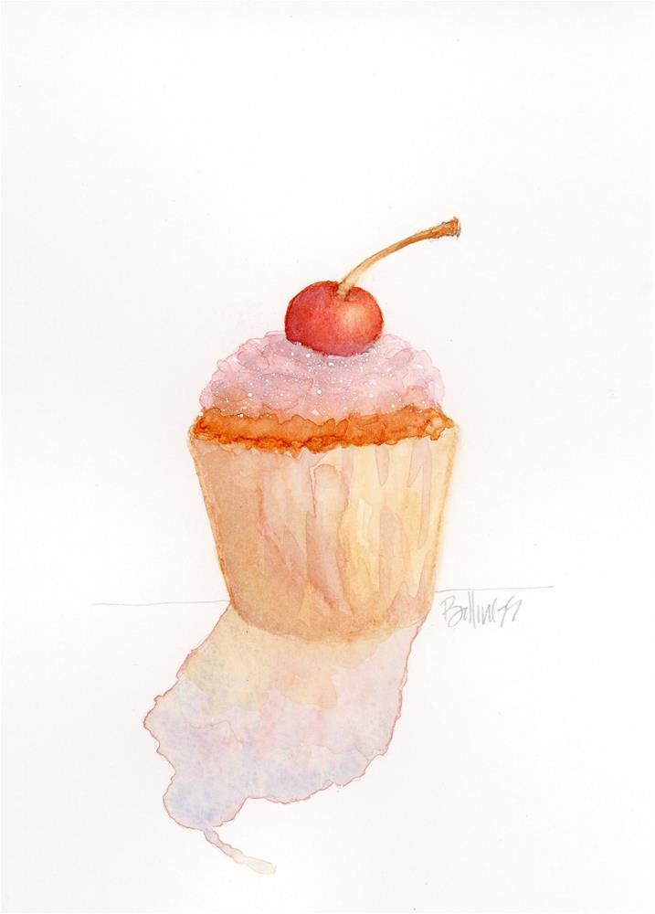 """Hello, Cupcake!"" original fine art by Susanne Billings"