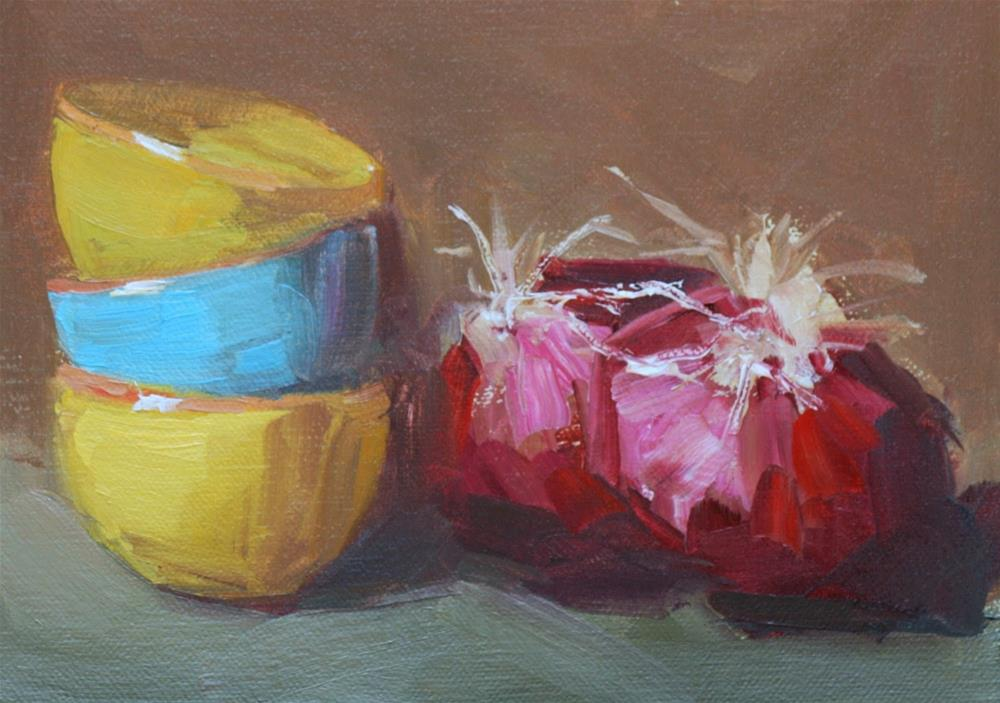 """onions on the side"" original fine art by Carol Carmichael"